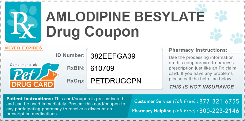 This Amlodipine Besylate coupon provides significant prescription savings at pharmacies nationwide