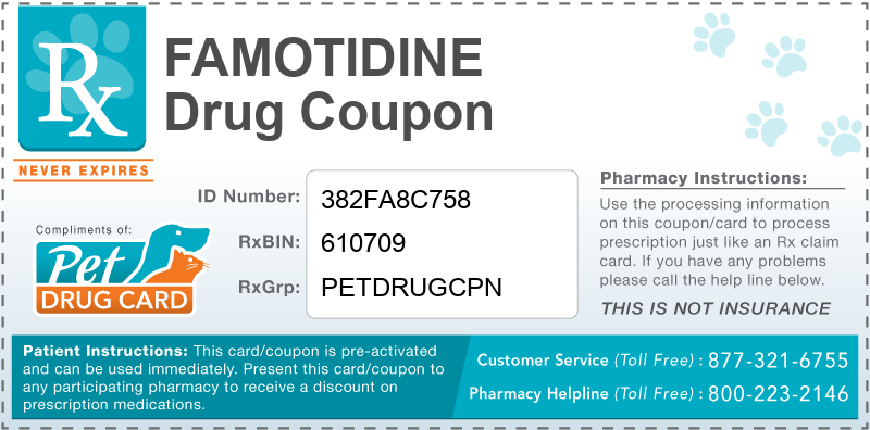 This Famotidine coupon provides significant prescription savings at pharmacies nationwide