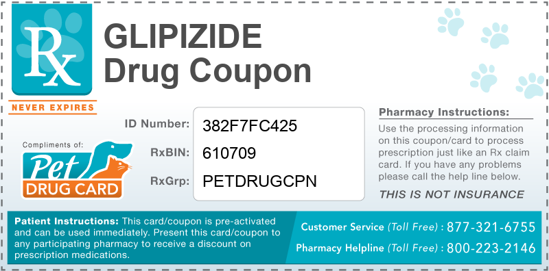This Glipizide coupon provides significant prescription savings at pharmacies nationwide