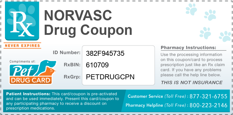This Norvasc coupon provides significant prescription savings at pharmacies nationwide