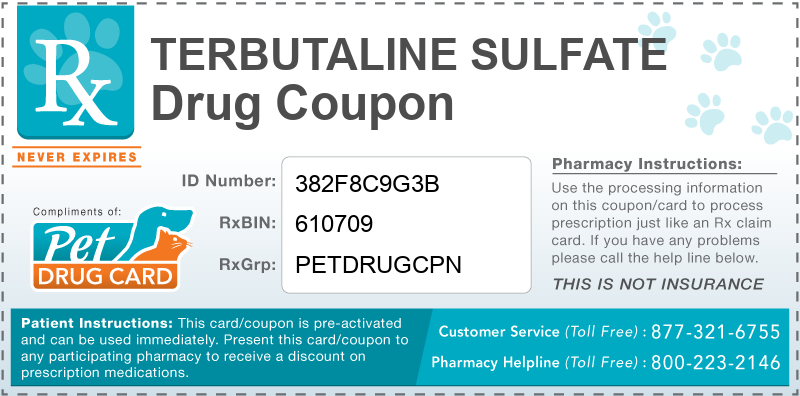This Terbutaline Sulfate coupon provides significant prescription savings at pharmacies nationwide